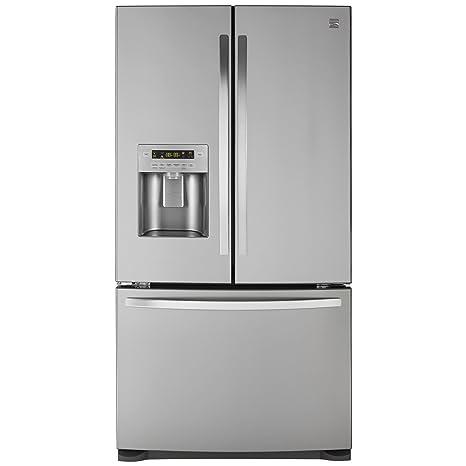 French Door Bottom Freezer Refrigerator In Stainless Steel,