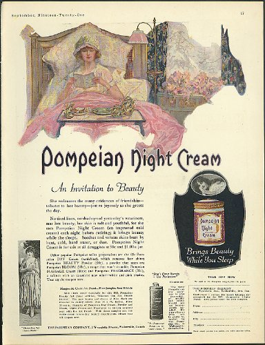 Pompeian Night Cream / Corticelli Fingering Yarns ad 1921 by The Jumping Frog