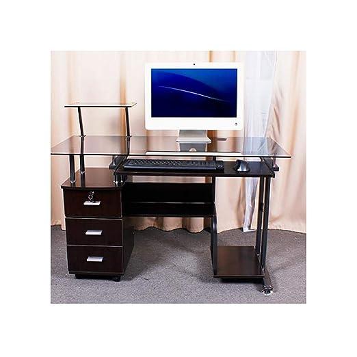 YXHUI escritorio de la computadora, 1 de metro 2 vidrio templado ...