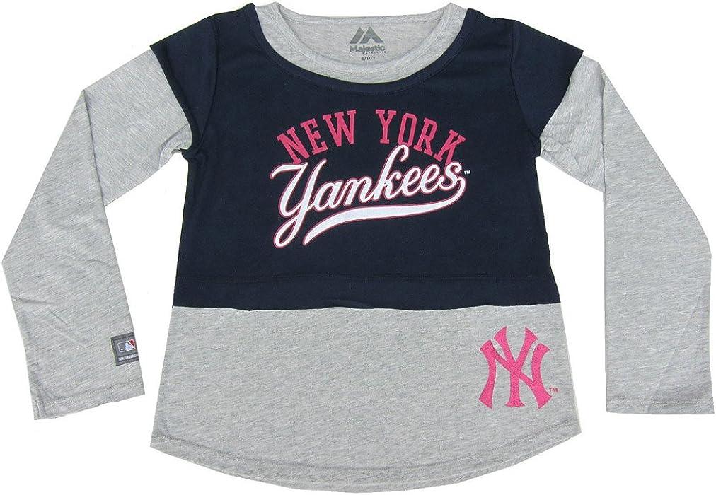 New York Yankees 2-in-1-Maglia a maniche lunghe da Majestic originale e93cb8a76c91