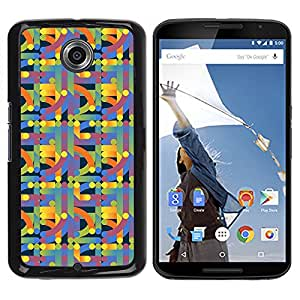 Graphic4You GEOMETRIKA PATTERN Thin Slim Rigid Hard Case Cover for Motorola Nexus 6