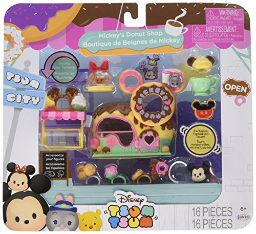 Tsum Tsum Disney Mickey's Donuts Shop Set Miniature Toy Figures (The Little Mermaid Tsum Tsum)