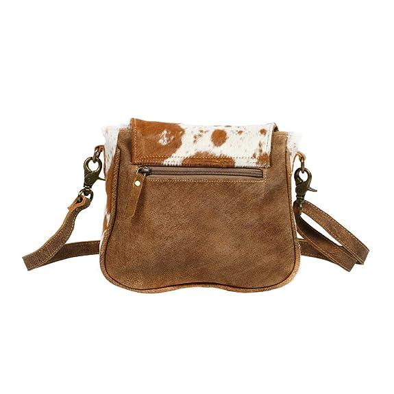 Amazon.com: Myra S-1215 - Bolsa de piel de vaca con solapa y ...