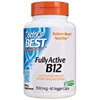 Doctor's Best Fully Active B12 1500 mcg, Non-GMO, Vegan, Gluten Free, Supports Healthy Memory, Mood and Circulation, 60 Veggie Caps