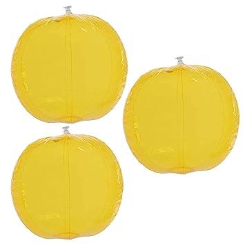 Pelota de Playa Balón de Agua Amarillo, Transparente, Pack de 3 ...