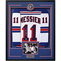 $712 » Mark Messier New York Rangers Signed Vintage Style 36x44 Framed Jersey - Autographed NHL Jerseys