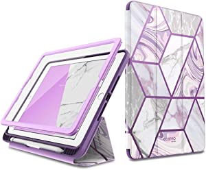 New iPad 9.7 Case 2018 / 2017, [Built-in Screen Protector] i-Blason [Cosmo] Full-Body Trifold Stand Protective Case Cover with Auto Sleep / Wake & Apple Pencil Holder for Apple iPad 9.7 Inch (Ameth)