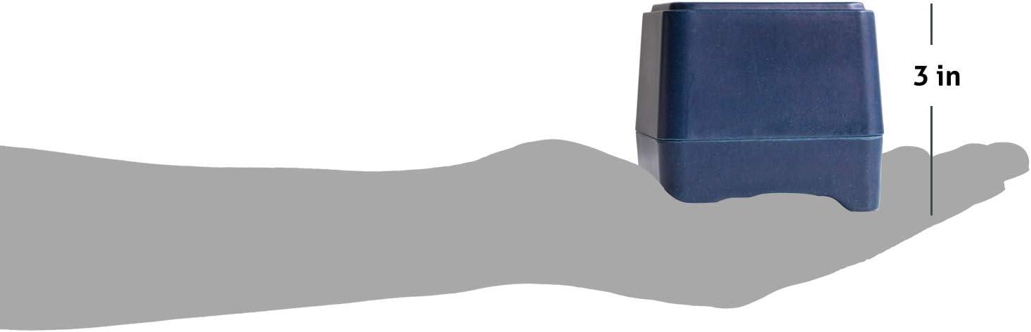 Hecho con el bamb/ú y la ca/ña de az/úcar Ethique Respetuoso del medio ambiente para la ducha contenedor de almacenamiento 1 ea Blanco