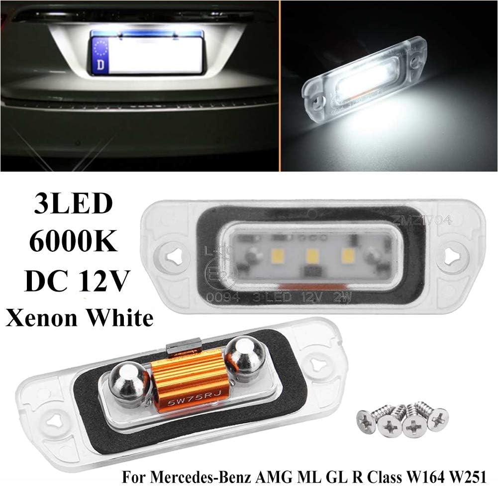 HEXIN INC 2 pcs W164 LED plaque dimmatriculation sallume 12V lampes arri/ère