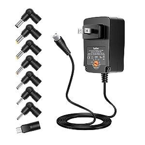 Belker Universal 3V 4.5V 5V 6V 7.5V 9V 12V AC DC Adapter Power Supply for Household Electronics Routers Speakers LCD CCTV Cameras TV Box LED Strip Light Max. 2A 2000mA