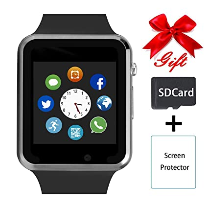 Smart Watch,Unlocked Touchscreen Smartwatch Compatible with Android/Bluetooth/iOS (Partial Functions) Call and Text Camera Notification Music Player ...