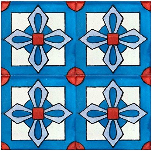 Rustico Tile and Stone TR4CARMEN Carmen Talavera Tile Box of 90, 4