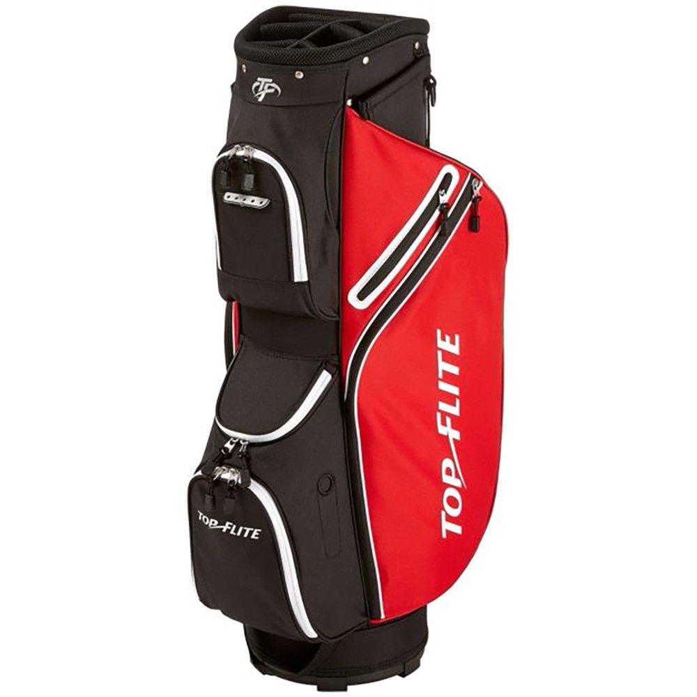 Top Flite 2018 Golf Cart Bag Mens Lightweight 8-Way Top - Black/Red