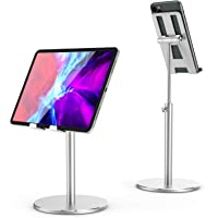 SHINEVI Cell Phone Stand for Desk, Angle Height Adjustable iPad Stand All Aluminum Alloy Stable Desktop Phone Holder…