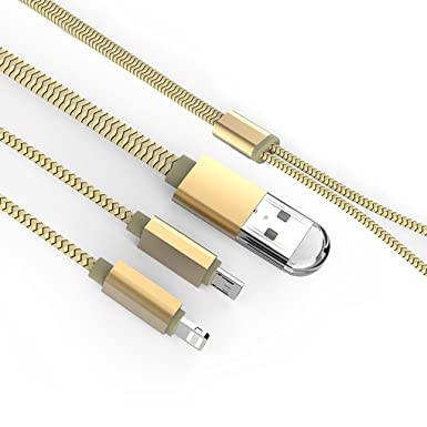 vovoir imán adsorción USB Cable de datos dual cargador para iOS y Android