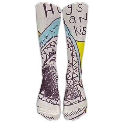 Brilliant Shark Pop Sports Socks Running Socks Soccer Socks Stocking