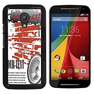 Dragon Case - FOR Motorola G 2ND GEN II - Try it one more time - Caja protectora de pl??stico duro de la cubierta Dise?¡Ào Slim Fit