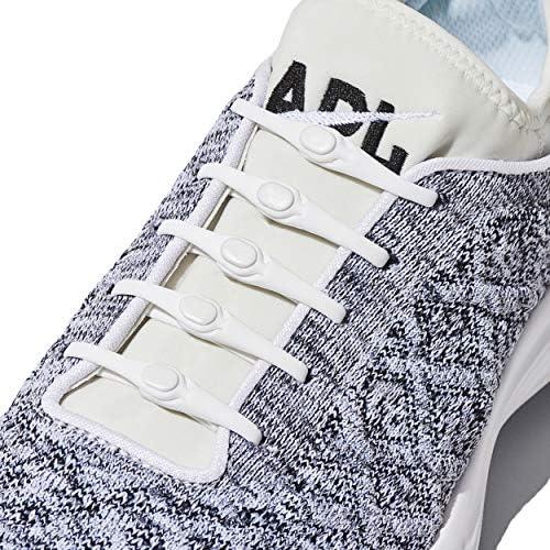[スポンサー プロダクト]HICKIES 2.0 - ヒッキーズ2.0 フリーサイズ 結ばない伸縮素材の靴ひも - ホワイト(白) (14 ヒッキーズ靴ひも、あらゆる靴のサイズに対応)