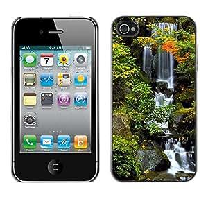 "For Apple iPhone 4 / 4S , S-type Naturaleza Hermosa Forrest Verde 38"" - Arte & diseño plástico duro Fundas Cover Cubre Hard Case Cover"