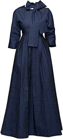 Women Lantern Sleeve Shirt Dress Evening Party Long Maxi Dress See Through Dress