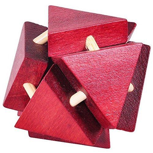 KINGOU - Puzzle de Madera con Cerradura Triangular Lisa y Lisa, diseño de Cerebro