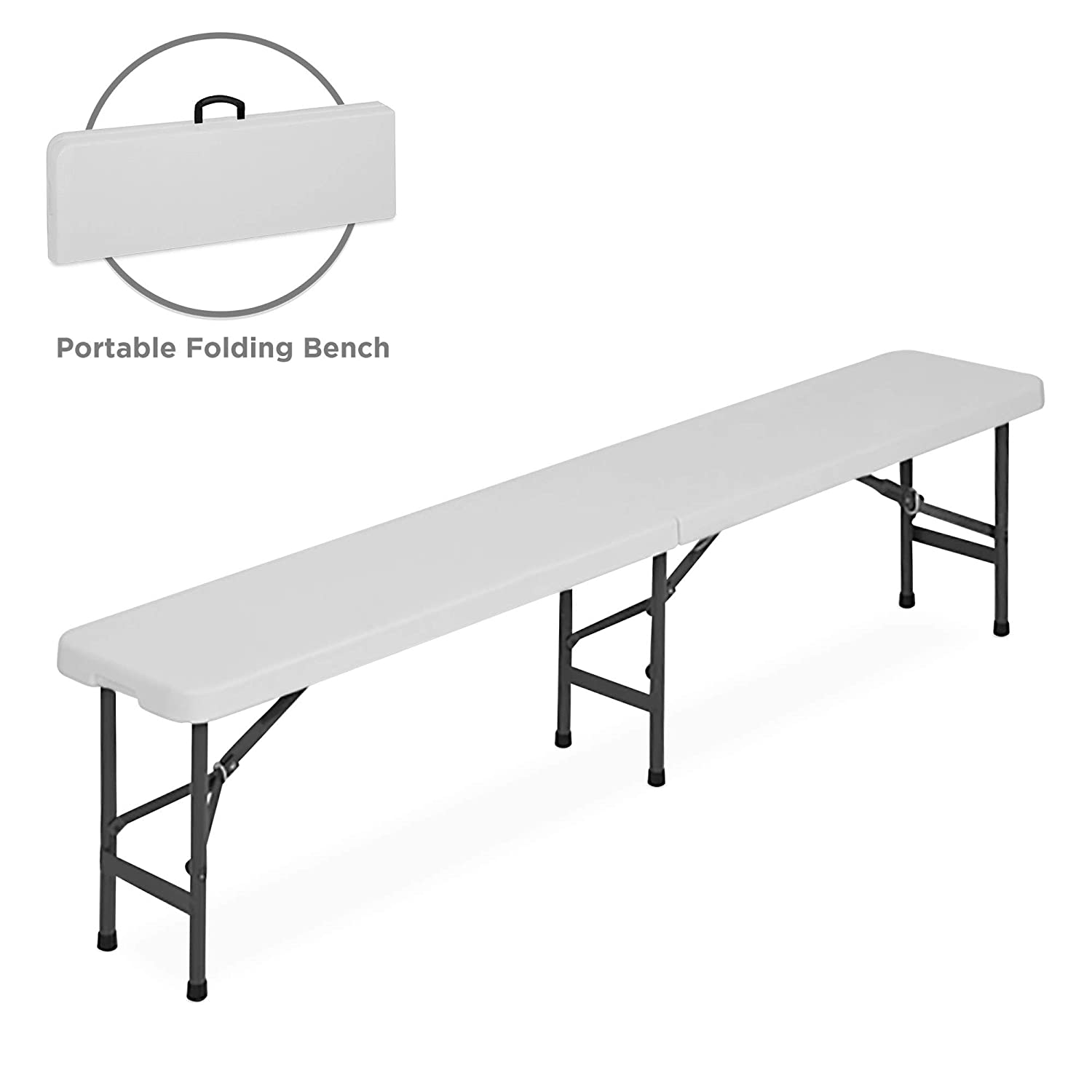 Large Storage Bench For Outdoor And Indoor Space Amazon.com: Best Choice Products 6ft Indoor Outdoor Folding Portable Plastic  Bench for Picnics, Party w- Handle and Lock - White: Garden u0026 Outdoor