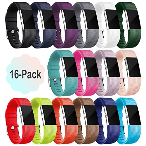 [해외]Fitbit Charge 2, 16 팩을위한 Maledan 교체 밴드/Maledan Replacement Bands for Fitbit Charge 2, 16 Pack