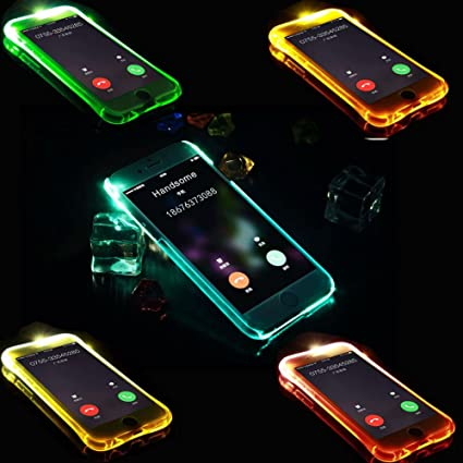 IPhone 7 Led Camera Flash Incoming Call Notification Light Up Transparent  Case, Durable And Unique