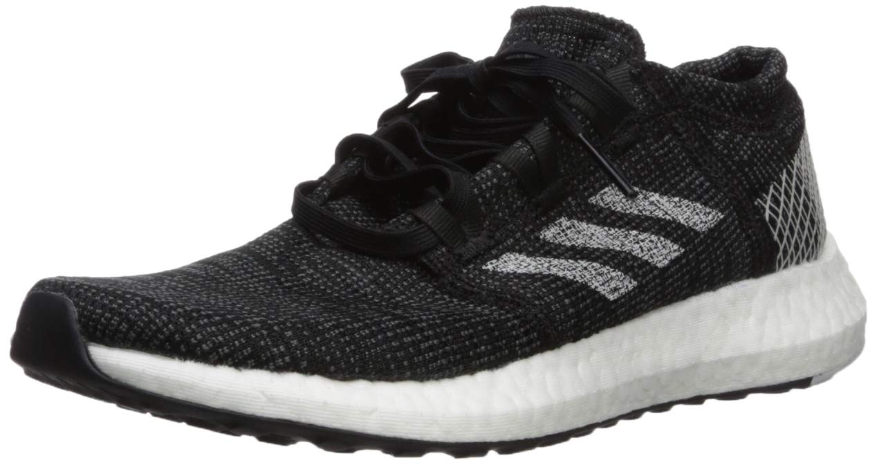 adidas Women's Pureboost Go Running Shoe, Black Grey, 5.5 M US