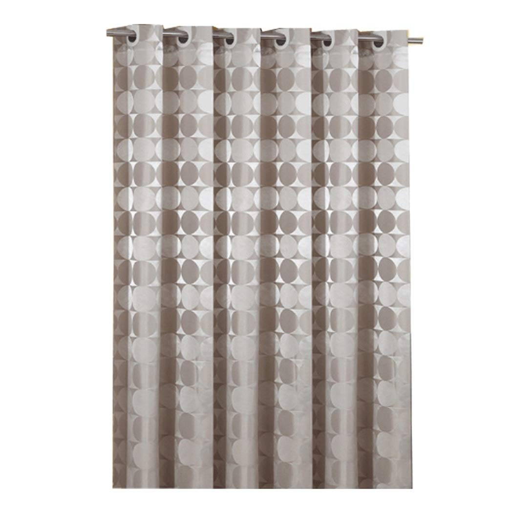 HONGLIAN Coffee Color Large Ring Shower Curtain Waterproof Mildew Bathroom Partition Curtain Hanging Sense Good Washable 150180cm, 180180cm (Color : Coffee Color, Size : 150180cm)
