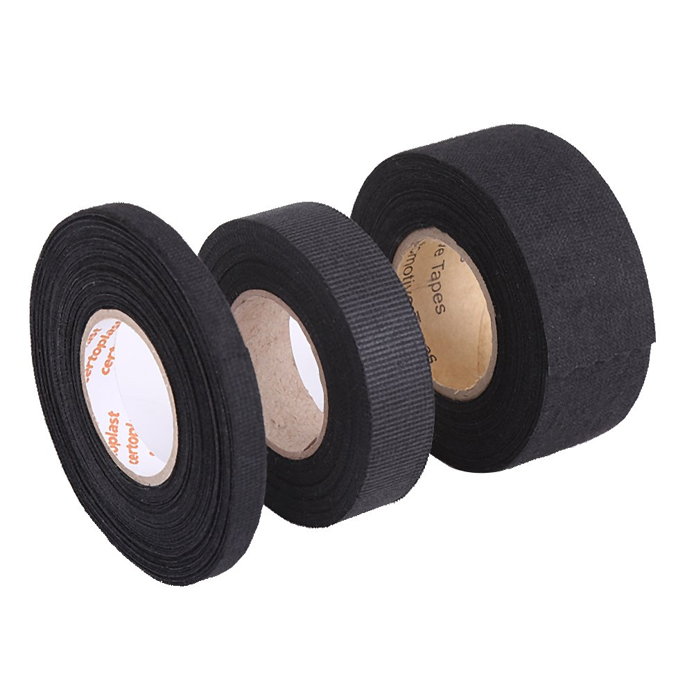Amazon.com: Insulation Tape Black,High Temperature Resistant Automotive  Wiring Harness Tape Car Electrical Self Adhesive Anti Squeak Tape For  Mercedes BMW ...