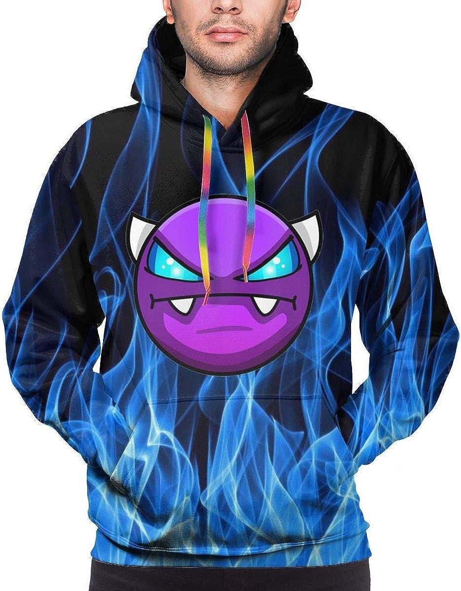 Geom-etry Game Da-sh Men's Sweatshirt Hooded Pullover Hoodie Long Sleeve Color Drawstring