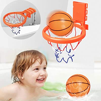 Deerbb Baby Bath Toys Basketball Goal Toddler Hoop for Kids Bathtub 1 2 3 Years Olds Girls Boys, Infant Tub Water Sport Educational Learning Play Set Age 0 4 5 6 7 8 9: Toys & Games