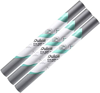 3-Pack Dulcii Non-Slip Anti-Mildew EVA Shelf Liner Mat