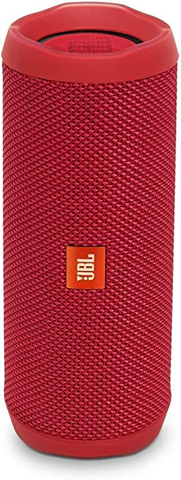 JBL Flip 4 Waterproof Portable Bluetooth Speaker - Red