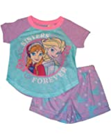 "Disney Frozen Anna & Elsa ""Sisters Forever"" Girls 2-Piece Pajama Set"