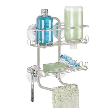 Duschzubehör mdesign duschregal ohne bohren zu montieren badablage aus