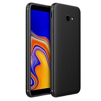EasyAcc Funda para Samsung Galaxy J4 Plus Suave TPU Case Protectora Trasera Mate Delgada Carcasa - Negro