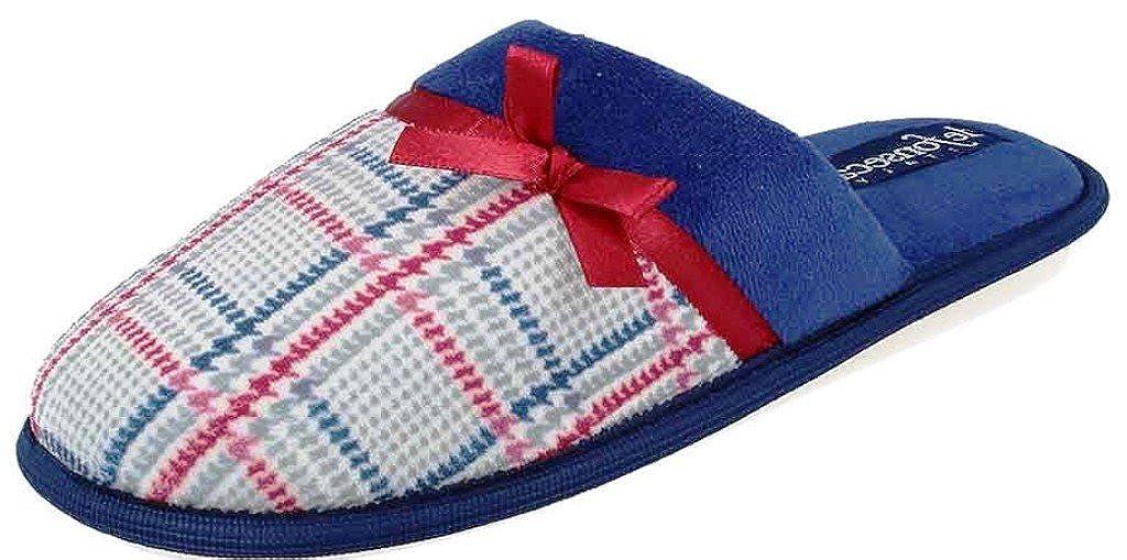 De Fonseca Ciabatte Pantofole Invernali da Donna Mod. Bari Top W42 Blu-