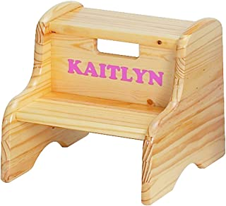product image for Little Colorado Personalized Natural Step Stool
