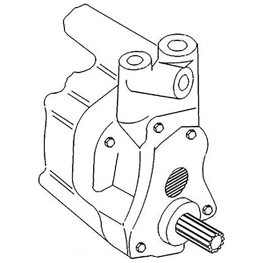 Amazon Com 531607m1 New Massey Ferguson Hydraulic Pump 30 1080 1085