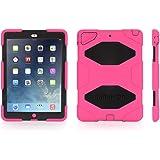 Griffin iPad Air Rugged Case, Survivor All-Terrain plus Stand, Pink/Black - Military-Duty Case