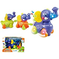 Blossom Cute Bump and Go Musical Elephant Family Toy with Light 3 in 1 Kids Elephant Train for Kids Babies