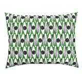 Roostery African Africa Tribal Ethnic Wax Print Geodesic Design Challenge Standard Knife Edge Pillow Sham African Geodesic by Ottomanbrim 100% Cotton Sateen