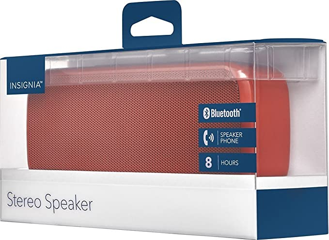 Insignia portable bluetooth stereo speaker red amazon insignia portable bluetooth stereo speaker red fandeluxe Image collections
