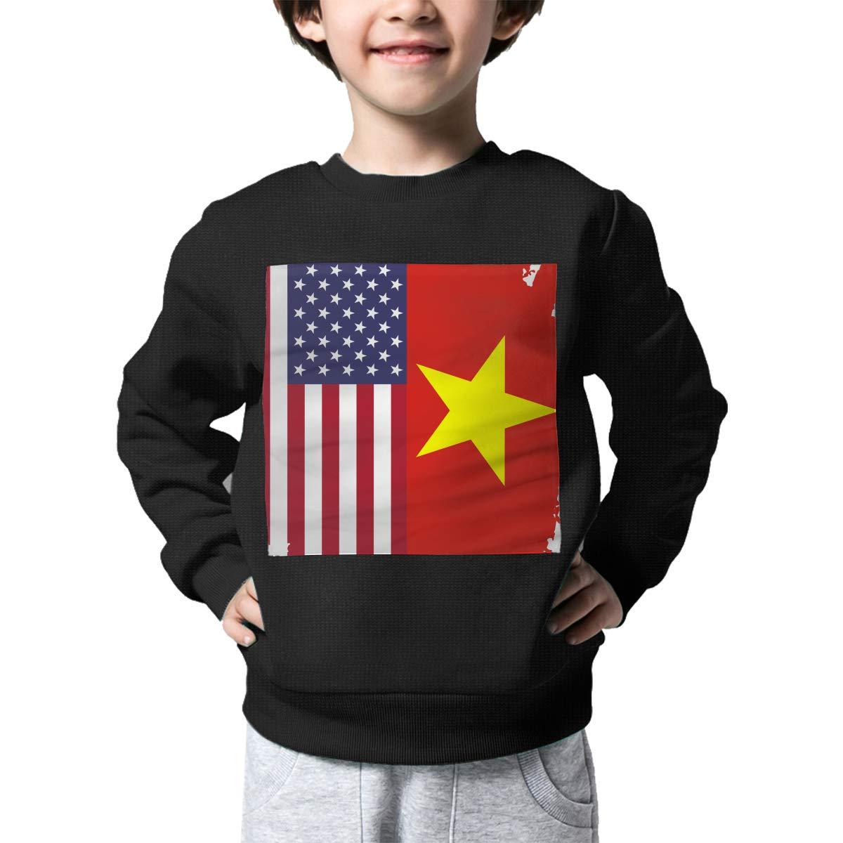 NJKM5MJ Boys Girls American Vietnam Flag Lovely Sweaters Soft Warm Unisex Children Kids Sweater