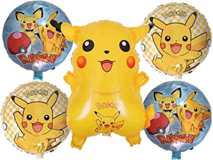 Pokemon Birthday Party Balloons - Pikachu Friends and Pokeball Balloon - Adult & Kids Party Theme Decorations - Helium Quality 2019 Revised Bundle by ...