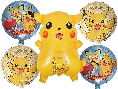Amazon.com: Globos de fiesta de cumpleaños Amscan Pokemon ...
