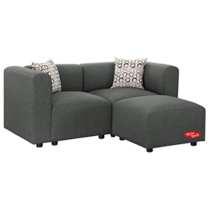 Super Amazon Com Sectional Sofa Gray Linen Fabric Modular Sofa Lamtechconsult Wood Chair Design Ideas Lamtechconsultcom