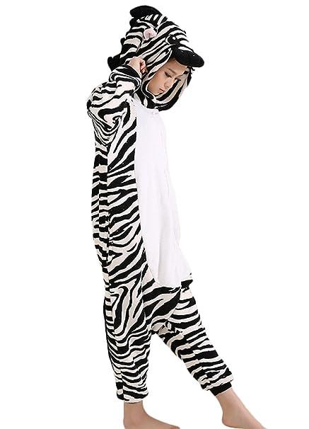 Y&L De Dibujos Animados para Adultos Mamelucos De Cebra De Cosplay Traje Unisex Kigurumi Pijamas X